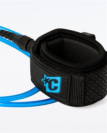 Creatures Pro 7FT Wave Leash Blue Black