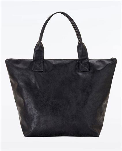 Vegan Leather Shopper Tote