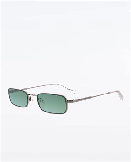 Lancer Shiny Light Gunmetal Green Sunglasses