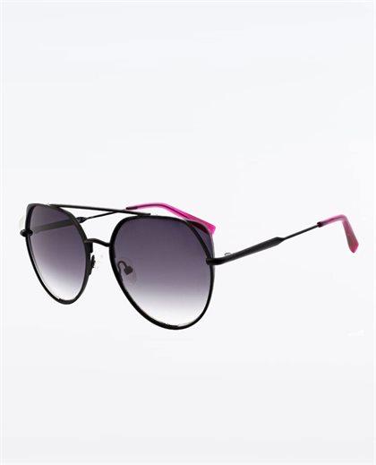 Helene Satin Black Sunglasses