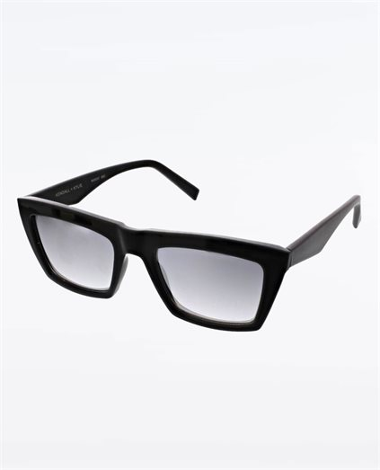 Kamilla Shiny Black Silver Flash Sunglasses