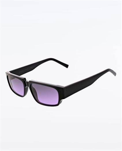 Josette Shiny Black Sunglasses