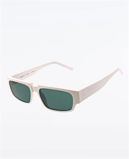 Josette Shiny White Sunglasses
