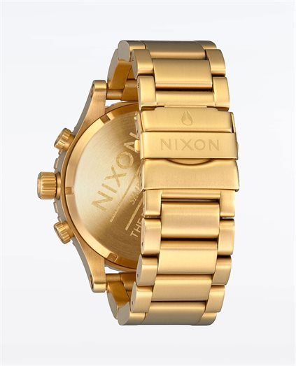 51-30 Chrono Gold Blue Sunray Watch