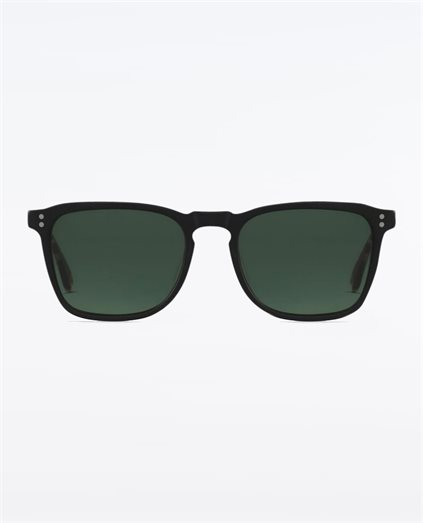 Wiley Matte Black Brindle Green Polarised Sunglasses