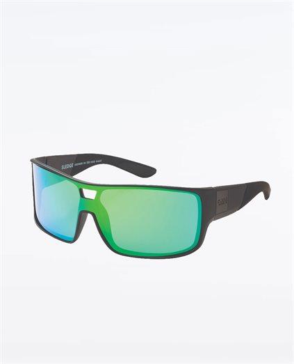 Sledge Matte Black Green Sunglasses
