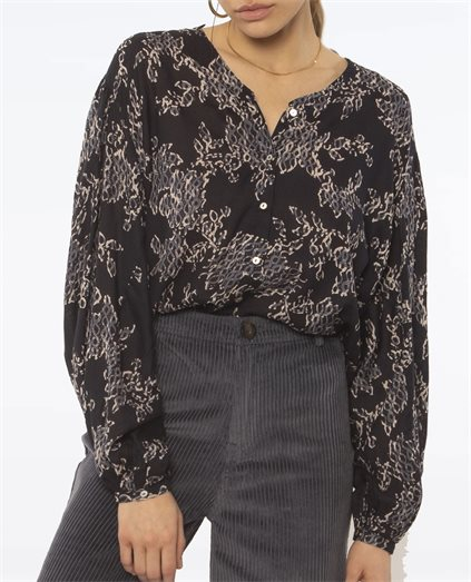 Liv Long Sleeve Ink Woven Blouse