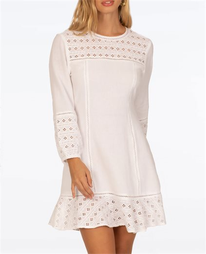Vittoria Long Sleeve Woven Dress