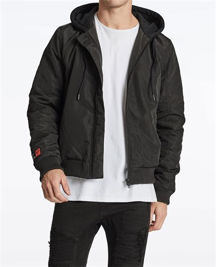 Omega Hooded Bomber Jacket