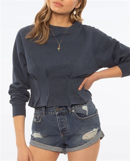 Devon Long Sleeve Knit Fleece Top