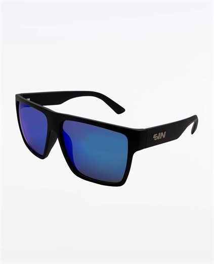 Vespa Matte Black Blue Sunglasses