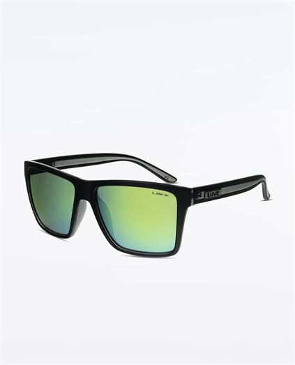Bazza Mirror Polarised Matte Black Xtal Sunglasses