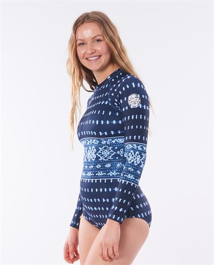 G-Bomb Long Sleeve One Piece Back Zip UV Surfsuit