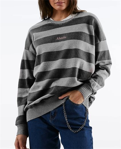 Unplugged Stripe Crew Neck