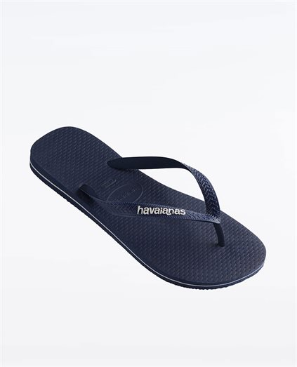 Kids Rubber Logo Navy Mix Thongs