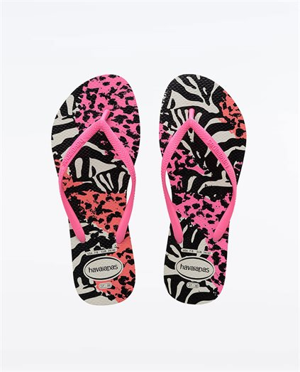 Havs Slim Animals Wht/Shocking Pink