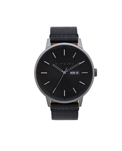 Detroit Gunmetal Leather Watch