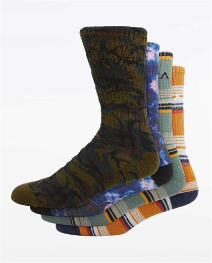 RVCA Seasonal Multi Sock 4Pk