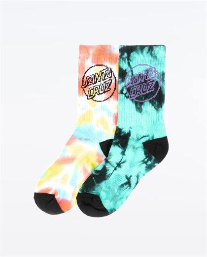 Dye Dot Sock Youth 2Pk