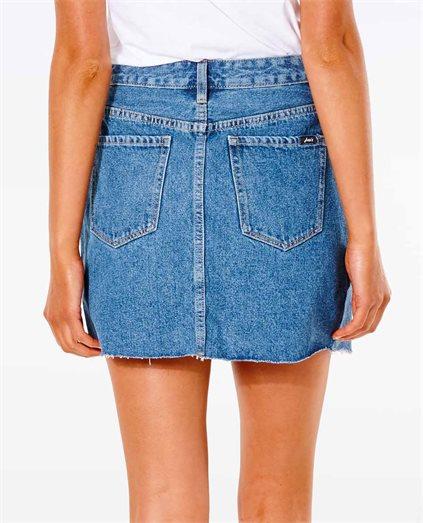 Denim A-Line Skirt Mid Blue
