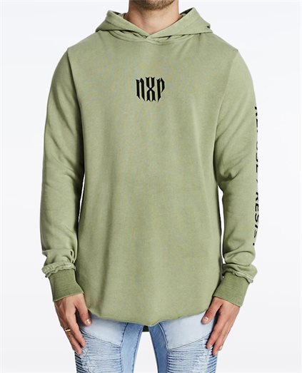 Refuse Hooded Dual Curve Sweater