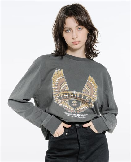 Wings Of Steel Merch Crop LS