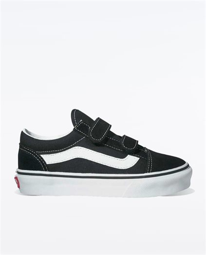 Kids Old Skool Velcro Black Shoes