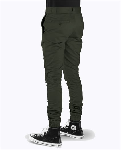 Double Knee Slim Fit Cuff Pant